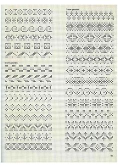 Fair Isle Knitting Patterns, Knitting Paterns, Fair Isle Pattern, Knitting Charts, Santa Cross Stitch, Cross Stitch Bookmarks, Cross Stitch Patterns, Fair Isle Chart, Hand Embroidery Patterns Flowers
