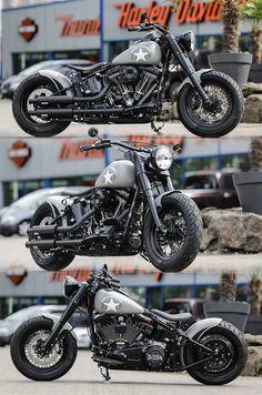 Thunderbike Plain Jane Harley-Davidson Softail Slim #Harley #HarleyDavidson #Biker #BikeLife #MadeinUSA #American #Americanstyle #Bike #Motorcycles #Motorbike #CeskyTrucker #Top #Online