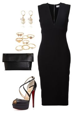 """Dinner"" by nikke9doors ❤ liked on Polyvore featuring Victoria Beckham, Christian Louboutin, Mudd and The Limited"