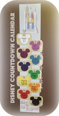 Googly Eyes & Glitter: Disney Countdown Calendar. Cute countdown with activities each day