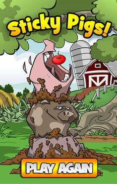 Win Screen at #GDC for sticky pigs