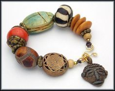 AFRICAN FUSION  Mixed African  Egyptian  by sandrawebsterjewelry, $79.00