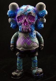 """Small Pox"" | Custom KAWS Figure | Privately Commissioned | Artist: Fplus | Image 1 of 3"