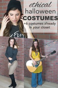 Quick and easy halloween costumes. An ethical and eco-friendly Halloween has never looked better. Quick N Easy Halloween Costumes, Healthy Halloween, Funny Halloween Costumes, Halloween Cosplay, Halloween Diy, Halloween 2017, Happy Halloween, Mom Costumes, Clever Costumes