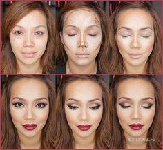 Макияж: Контурирование лица пошагово: фото и видео