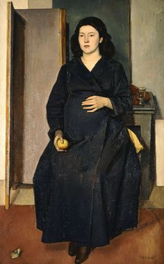 Pregnant by Yiannis Moralis (Greek Greek Paintings, Art Paintings, National Gallery, Art Antique, Ecole Art, Greek Art, Mother And Child, Female Portrait, Illustrations