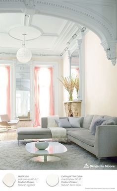 Try Pink Damask OC-72 or Chantilly Lace OC-65 for this years' trend: Blush. Our 2015 Color Trends Blush palette shows off our fresh takes on opulence: Romantic, minimal, luminous and pale.