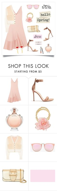 """""""So Pretty: Dreamy Dresses"""" by alinepinkskirt ❤ liked on Polyvore featuring STELLA McCARTNEY, Gianvito Rossi, Paco Rabanne, Monsoon, Chloé, Burberry and Isabel Marant"""