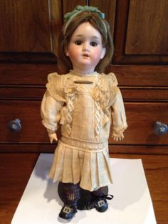 "Antique K&H KLEY &  HAHN  WALKURE GERMANY Bisque Doll Jointed Compo 14""-WOW!"