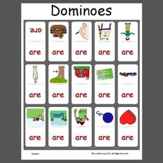 """ar"" Dominoes  - pinned by @PediaStaff – Please Visit  ht.ly/63sNt for all our pediatric therapy pins"
