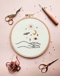 Simple Embroidery Designs, Modern Embroidery, Hand Embroidery Patterns, Cross Stitch Embroidery, Diy Embroidery Projects, Broderie Simple, Etsy Shop, Live, Crafty