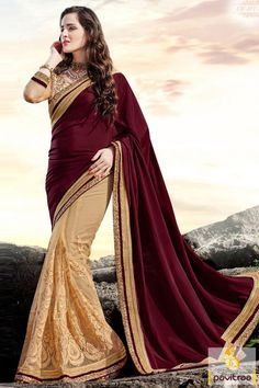 Designer net maroon saree online shopping for all the modern woman who want to bear most trendy designer saree in wedding. Buy this amazing looking saree. #saree, #partywearsaree, #weddingsaree, #sari, #indianweddingsaree, #designersaree, #sareewithblouse, #sarees, #Indiansaree, #sareesonlineshopping, #fashionsaree, #weddingbridalsaree, #designercollection More: http://www.pavitraa.in/store/wedding-bridal-saree/ Any Query: Call Us:+91-7698234040 E-mail: info@pavitraa.in