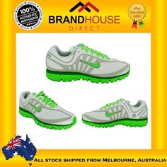 NIKE INSPIRE DUAL FUSION WOMENS SHOES/SNEAKERS/ GREY/FLURO GREEN US SIZES!