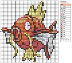 Magikarp Pokemon free cross stitch pattern