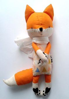 ESTI the fox. made-to-order. gift for children. eco toy. stuffed fox. toy fox. kids room decorative fox. by LESNE on Etsy https://www.etsy.com/listing/212563164/esti-the-fox-made-to-order-gift-for