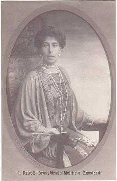 "Princess Victoria Melita ""Ducky"" (25 Nov 1876-2 Mar 1936) UK by unknown artist. 3rd child of Price Alfred (1844-1900) UK & Grand Duchess Maria Alexandrovna Romanova (1853-1920) Russia."