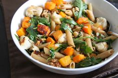 Browned Butter Pasta with Arugula, Butternut Squash, and Cauliflower
