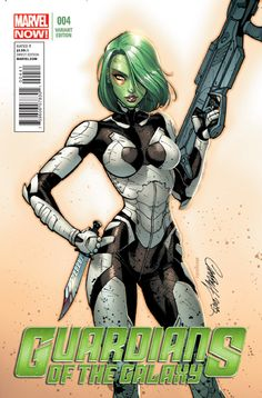 Guardians Of The Galaxy 4. Variant cover by J. Scott Campbell.