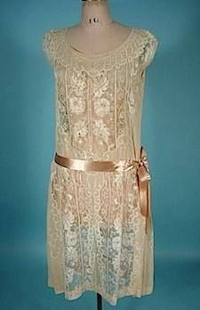 1926 lovely lace overdress