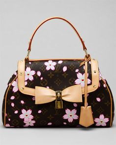 Louis Vuitton Monogram Cherry Blossom Satchel...I don't usually go for name brands....but give me black AND a touch of Asian, and I'll probably go for it!