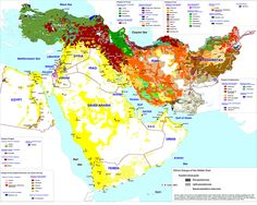 Ethnic groups of the middle east #middleeast #map from  Gulf/2000 Project
