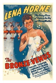 "Lena Horne made her film debut starring as ""the Bronze Venus"" in The Duke is Tops, a 1938 musical. For more on the African American experience visit Discover Black Heritage. Lena Horne, Classic Movie Posters, Classic Movies, Old Movies, Vintage Movies, African American Movies, American Women, Jazz, Black History"