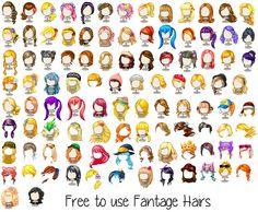 Mega Fantage Hair Pack by xCherrryChan