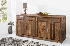 Luxusný nábytok REACTION: Exotická komoda z masívneho dreva BARRACUDA.