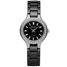 DKNY Ceramic Quartz Black Dial Women's Watch NY4980 DKNY. $131.05. Analog Display. round Stainless Steel Case Case. Black Ceramic Strap. Japanese quartz movement. Water Resistance : 5 ATM / 50 meters / 165 feet. Save 33% Off!