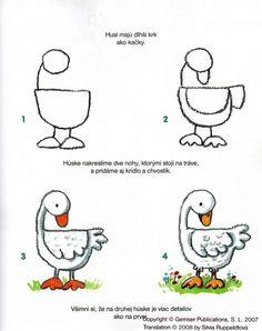 leren hoe je een gans kan leren tekenen