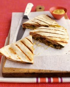 Nachos, Quesadillas, and More>>Pork Quesadillas