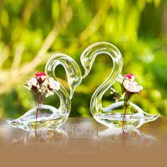 Table Centerpieces - $19.79 - Elegant Swan Glass Vase Centerpiece (Set of 2)  (128035821) http://jjshouse.com/Elegant-Swan-Glass-Vase-Centerpiece-Set-Of-2-128035821-g35821?pos=best_selling_items_3