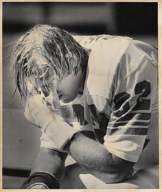 One of my personal favorite Broncos, left guard TOM GLASSIC played for the Broncos from 1976-83. Playing his college ball at Virginia, Tom started all 14 games in his rookie season (1976). This photo is from his first game as a Bronco: September 12, 1976!! (What makes this photo even more special is that September 12 is my birthday!)