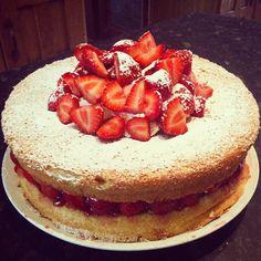 Summer strawberry cream cake :-)