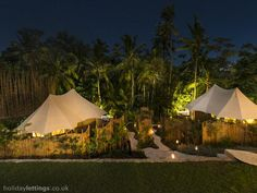 8 bedroom tented camp in Ubud to rent from £1221 pw, with a private pool. Also with balcony/terrace and air con.
