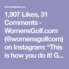 """1,907 Likes, 31 Comments - WomensGolf.com (@womensgolfcom) on Instagram: """"This is how you do it! Great swing @sierrabrooks59"""""""