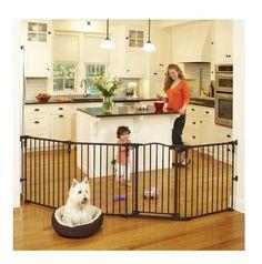 Baby Pet Safe Gate Play Yard Fence w/ Dog Gates Toddler Kids Adjustable Portable #NorthStates