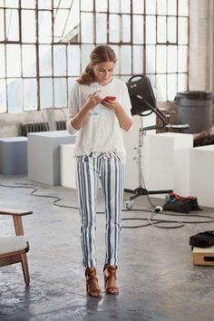 Long pants dress down heels so you can get the sophisticated look while not being overdressed!