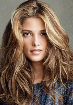 brown blonde hair, volume