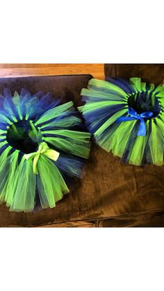 Seattle Seahawks 12th man tutu! I make my tutus very full and fluffy so you will be sure to stand out! Infant and toddler tutus are made on