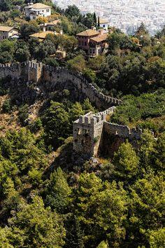 Ancient walls . Turkey