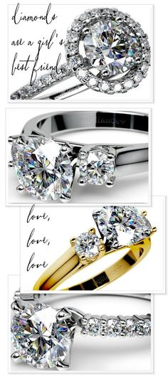 You know it as well as we do.. Diamonds are a girl's best friend! Except for her sweetheart, of course. http://www.brilliance.com/ Repin if you agree! ;)
