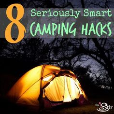 These are the most genius camping tricks ever. For your tent, for your meals, for starting your campfire, for everything!