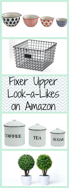 Fixer Upper Look-a-Likes on Amazon Amazon Prime Farmhouse Style Amazon Finds