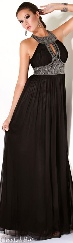 JOVANI - Authentic Designer Dress - Embellished Full Length Gown