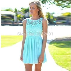 0df98e85 2015 summer beach coral turquoise lace bridesmaid dress for weddings in  stock cheap vestido #SummerWedding