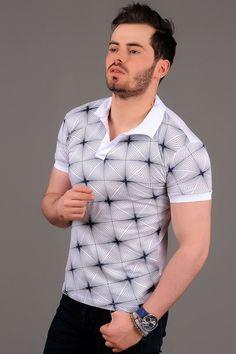 Yıldız Desenli Polo Yaka Beyaz T-shirt #giyim #indirim #kampanya #bayan #erkek #bluz #gömlek #trençkot #hırka #etek #yelek #mont #kaşe #kaban #elbise #abiye #büyükbeden #tunik #tulum #askılı #kapri #şort #pantolon #yenisezon #moda Mens Polo T Shirts, Men's Polos, Surf Wear, Polo Neck, Vogue, Korean Outfits, New Trends, Diy Clothes, Lacoste