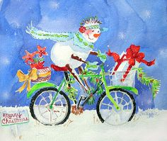 Suzy 'Pal' Powell Watercolors and Collages: Christmas Card Worskhop