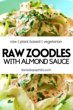 Raw Vegan Recipes, Lunch Recipes, Healthy Recipes, Healthy Food, Dinner Recipes, Vegan Keto, Healthy Meals, Zucchini Noodle Recipes, Zoodle Recipes