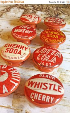 Hey, I found this really awesome Etsy listing at https://www.etsy.com/listing/255284518/on-sale-8-vintage-soda-bottle-cap-knob